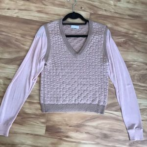 1. State sweater v neck pink knit small